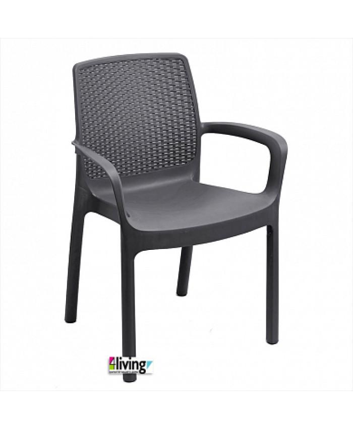 Составной стул Regina Antracite для улицы и сада