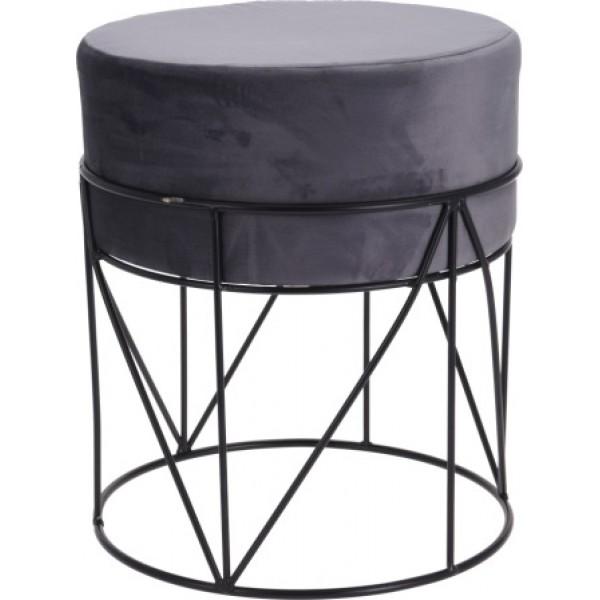 Пуф для сидения с каркасом из металла