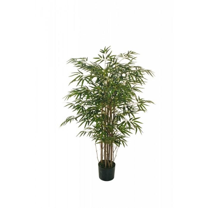 """Искусственное растение """"Бамбук"""" в горшке, 120 см, пластик, цвет зеленый"""