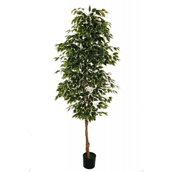 """Искусственное растение """"Фикус"""" в горшке, 210 см, пластик, цвет зеленый"""