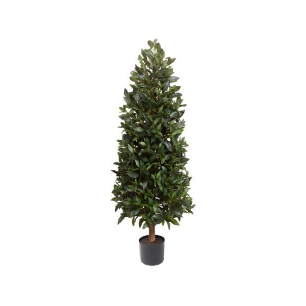 """Искусственное растение """"Лавр благородный"""", пластик, 120 см в горшке из пласт."""