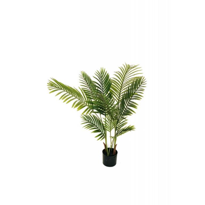 """Искусственное растение """"Пальма Арека"""" в горшке, пластик, 110 см, цвет зеленый"""