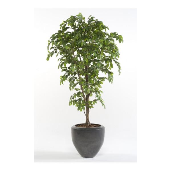 """Искусственное растение """"Фикус"""" в горшке, 170 см, пластик, цвет зеленый"""