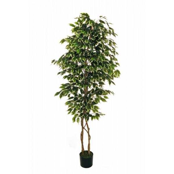 """Искусственное растение """"Фикус"""" в горшке, 180 см, пластик, цвет зеленый"""