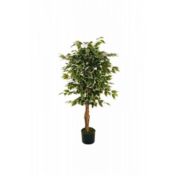 """Искусственное растение """"Фикус"""" в горшке, 120 см, пластик, цвет разноцвет"""