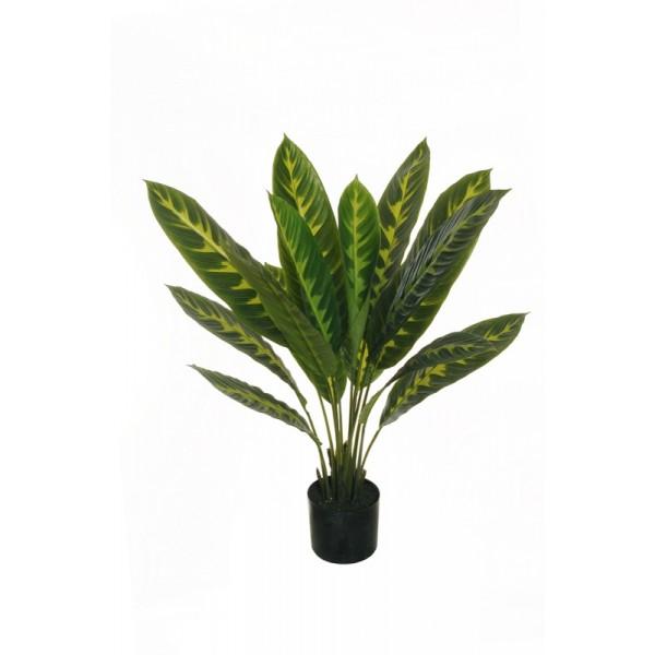 """Искусственное растение """"Маранта"""" в горшке, пластик, 90 см, цвет зеленый"""