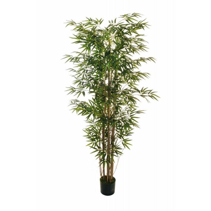 """Искусственное растение """"Бамбук"""" в горшке, 210 см, пластик, цвет зеленый"""