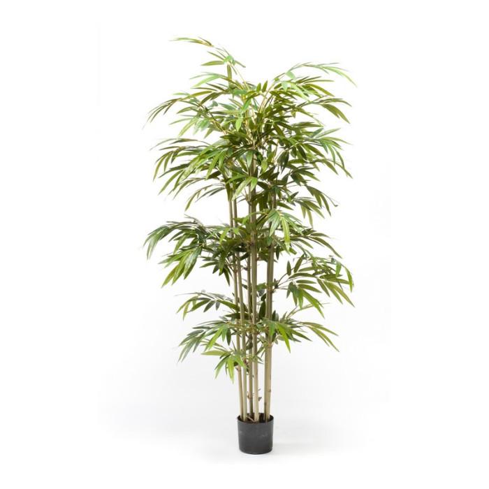 """Искусственное растение """"Бамбук"""" в горшке, 180 см, пластик, цвет зеленый"""