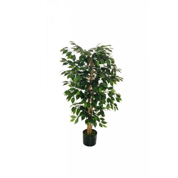 """Искусственное растение """"Фикус"""" в горшке, 120 см, пластик, цвет зеленый"""