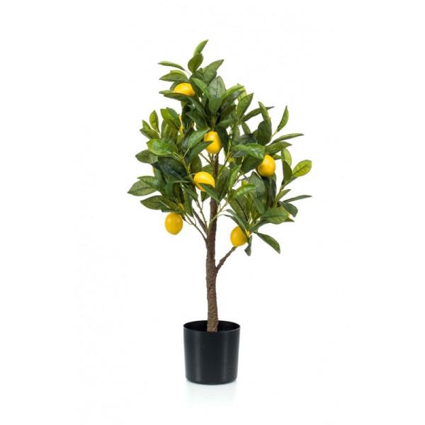 """Искусственное растение """"Лимонное дерево"""" в горшке, 72 см"""