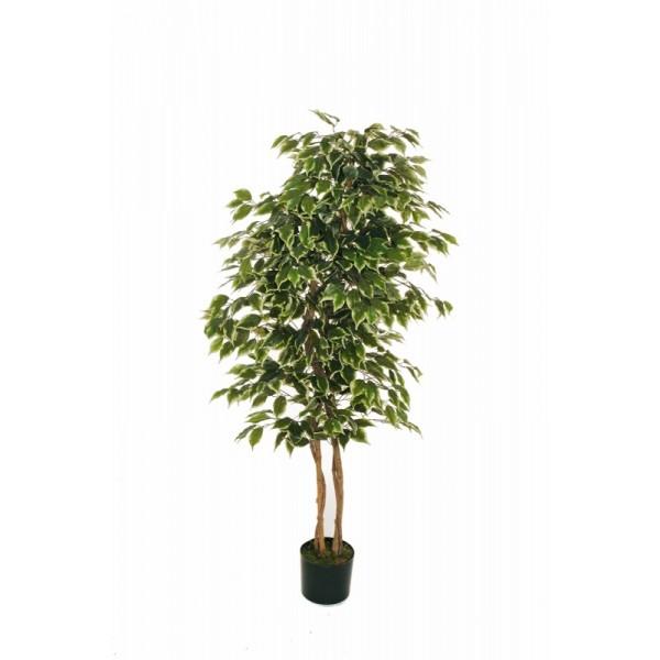 """Искусственное растение """"Фикус"""" в горшке, 150 см, пластик, цвет зеленый"""