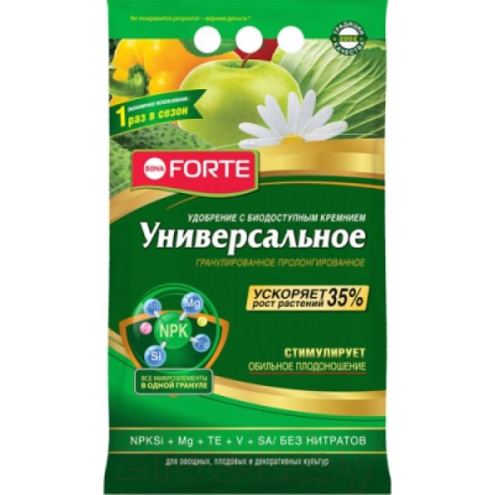 Bona Forte Удобрение гранулированное пролонгированное Универсальное с биодоступным кремнием