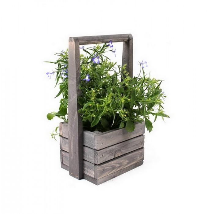 Ящик-кашпо для цветов Aster Grey