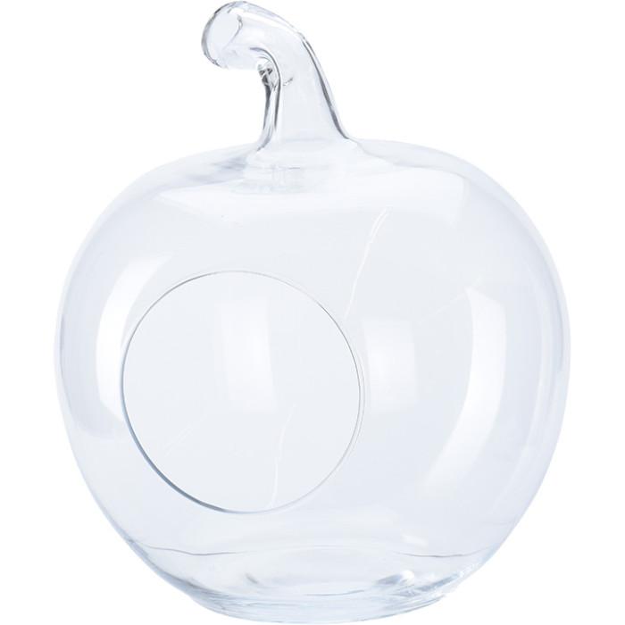 Декоративная ваза из стекла в форме яблока