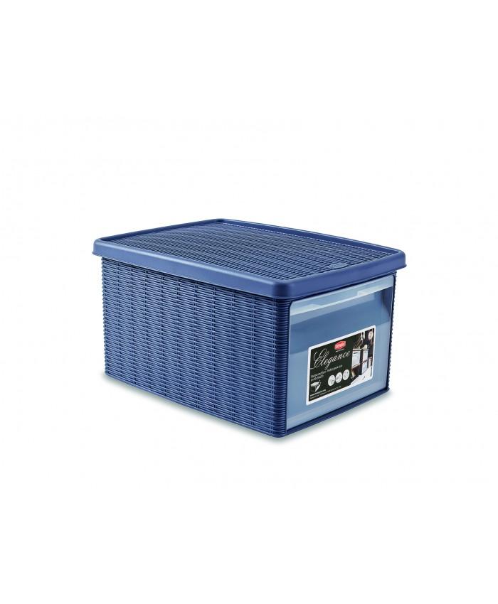 Многофункциональная корзина для хранения из пластика с фронтальным доступом средняя