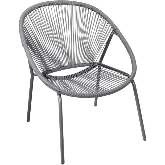 Садовое кресло Metal Vase Gray
