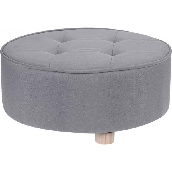 Пуф для сидения с каркасом из дерева Short Grey