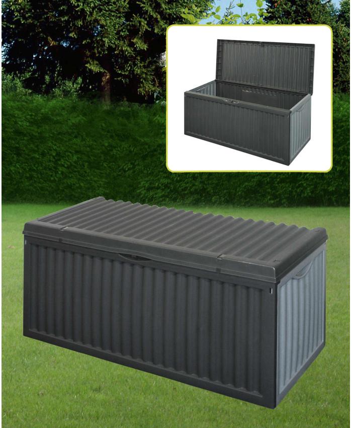 Ящик садовый из пластика для хранения хозинвентаря под ротанг