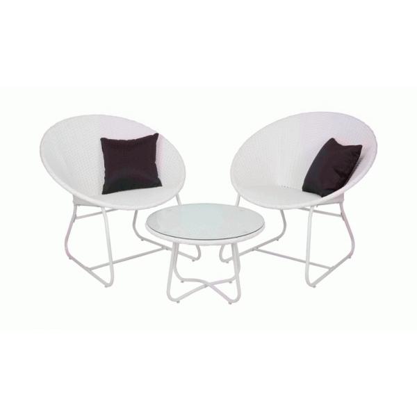 Набор садовой мебели Bistro Set Bianco Glass