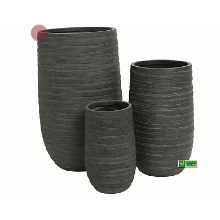 Горшок для цветов Большой Graphite Drum