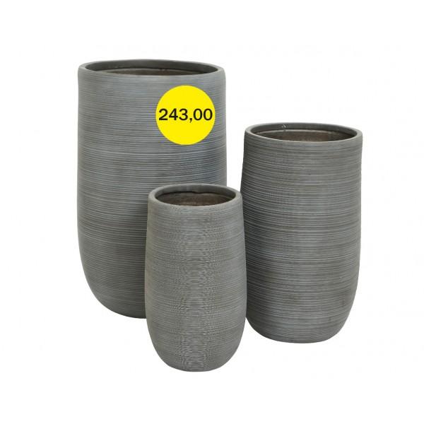 Горшок для цветов Большой Gray Drum