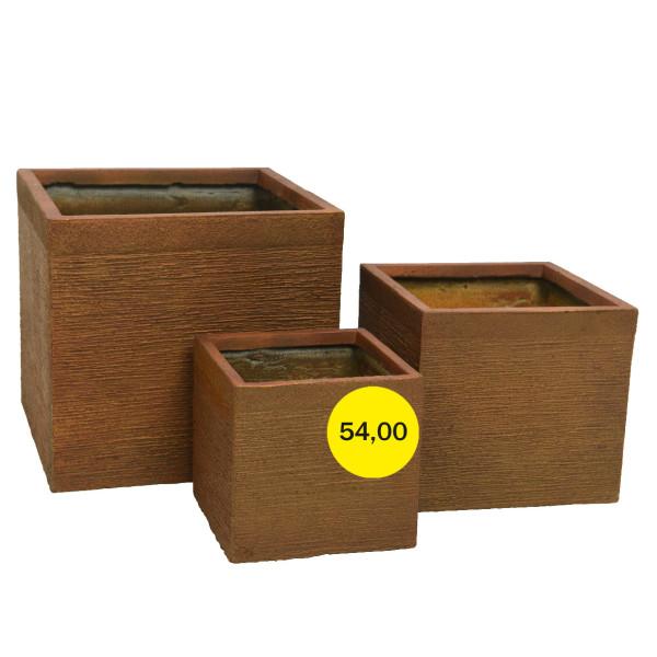 Горшок для цветов Малый Bronze Cube