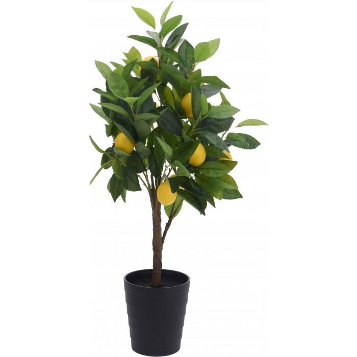 """Искусственное растение """"Лимонное дерево"""" в горшке, 70 см"""