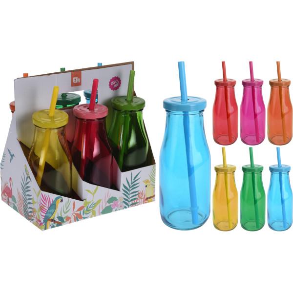 Комплект бутылочек для смузи 6 шт. по 230 мл.