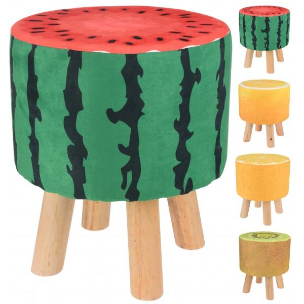 Пуфик с каркасом из дерева Watermelon