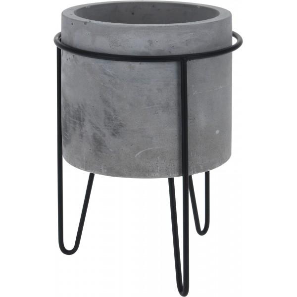 Керамический горшок матовый Gray Tsigel ø22,5