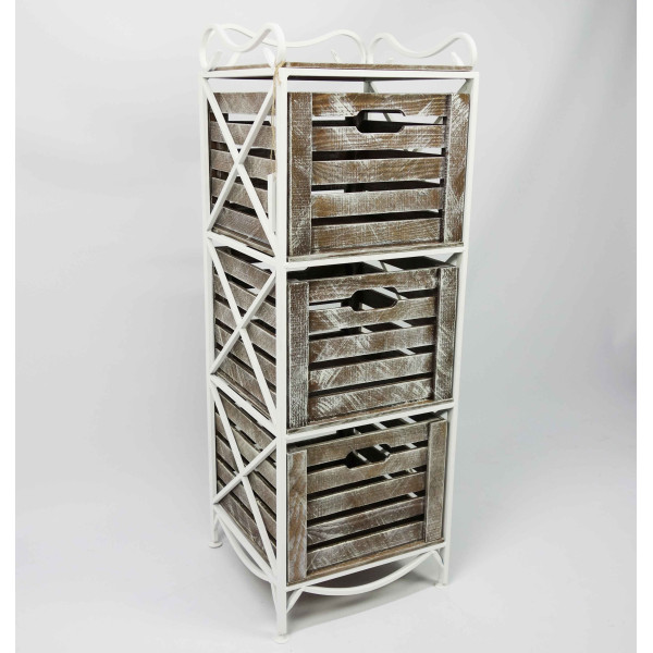 Этажерка Provence Vertical на 3 ящика