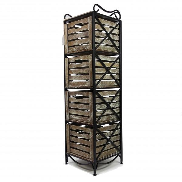Этажерка Provence Vertical на 4 ящика