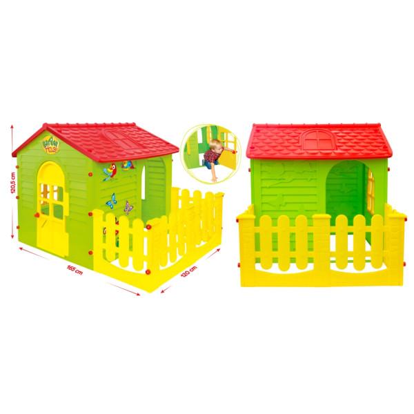 Домик игровой детский с заборчиком