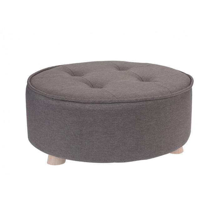 Пуф для сидения с каркасом из дерева Short Beige