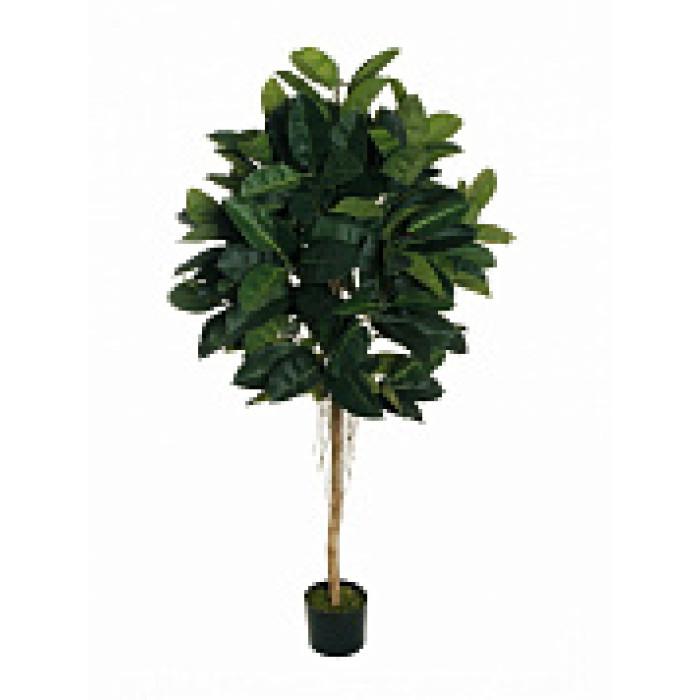 """Искусств.растение """"Каучуковое дерево"""" в горшке, 160 см, пластик, цвет зеленый"""