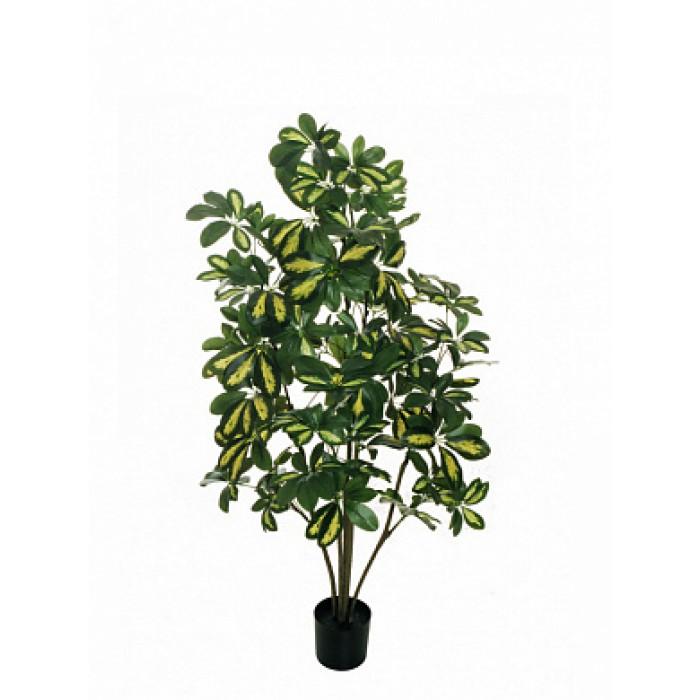 """Искусств.растение """"Шефлера карликовая"""" в горшке, 120 см, пластик, цвет зел"""