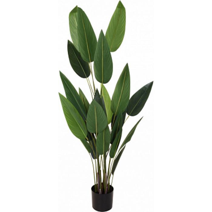 Искусственное растение в горшке из пластика