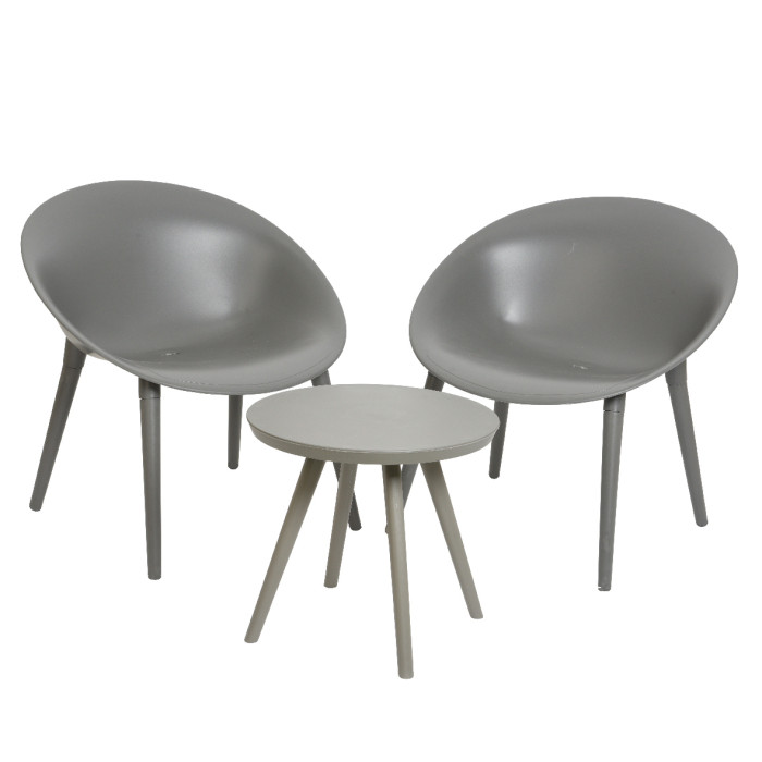 Набор мебели для улицы и сада Marbella Antracite