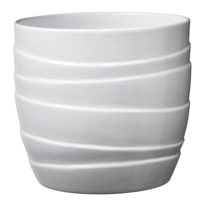 Керамический горшок глянцевый Barletta Gloss White ø21