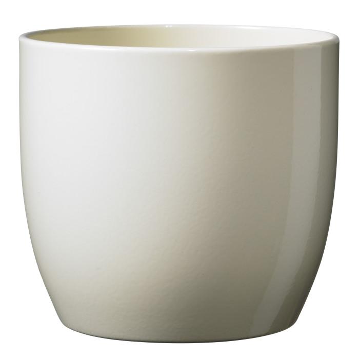 Керамический горшок глянцевый Basel Full Vanilla