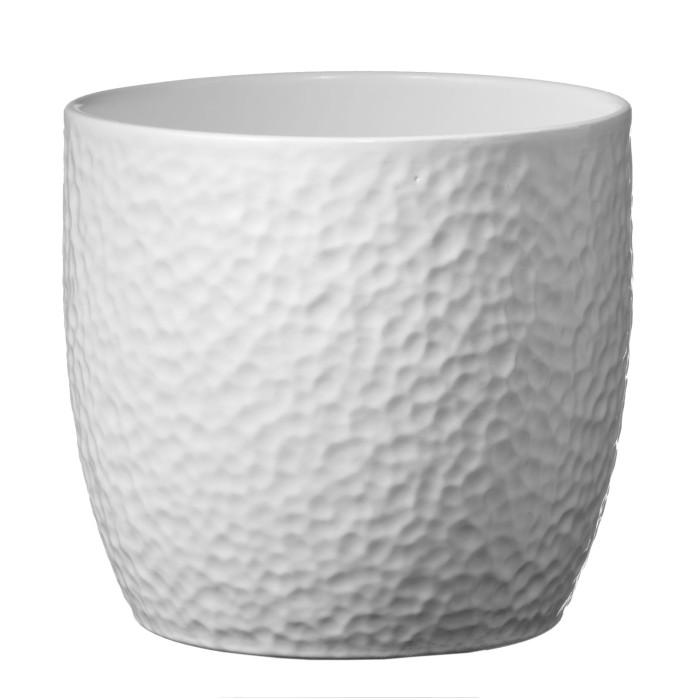 Керамический горшок матовый Boston White ø21