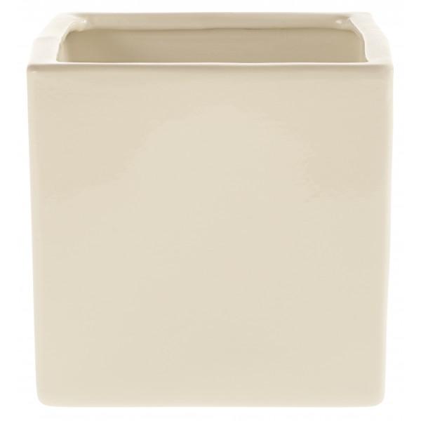 Керамический горшок глянцевый Latina Creme 21*21