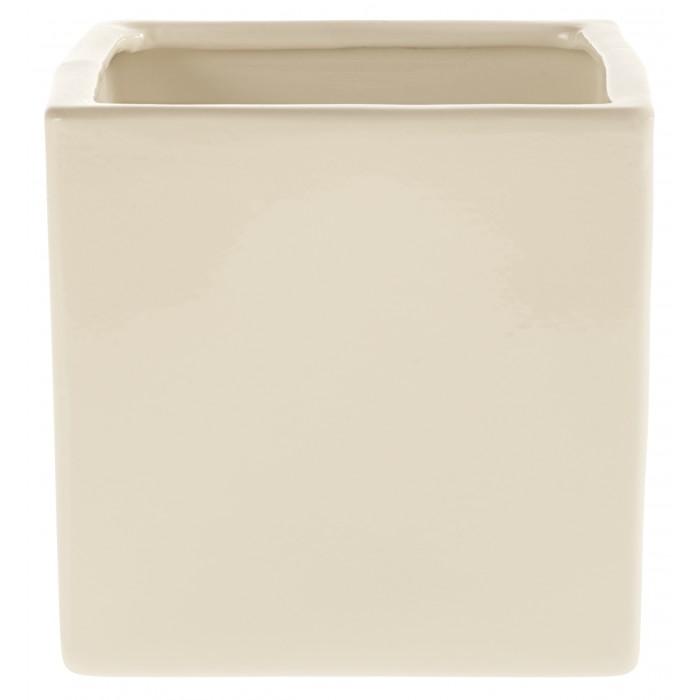 Керамический горшок глянцевый Latina Creme 28*28