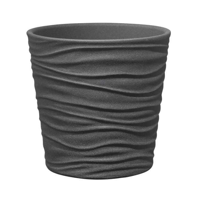 Керамический горшок матовый Sonora Antracite ø21