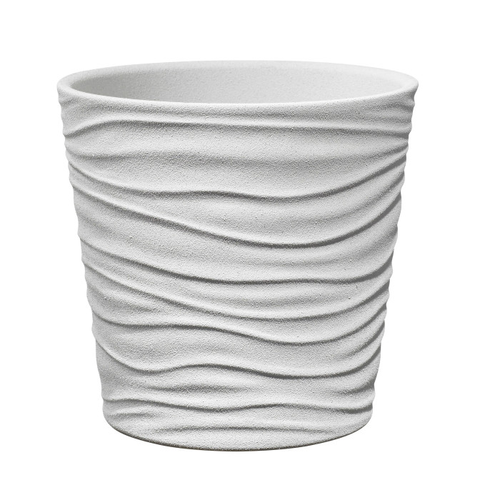 Керамический горшок матовый Sonora White ø21