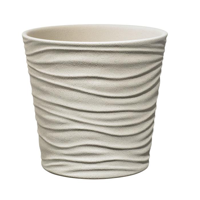 Керамический горшок матовый Sonora Beige ø21
