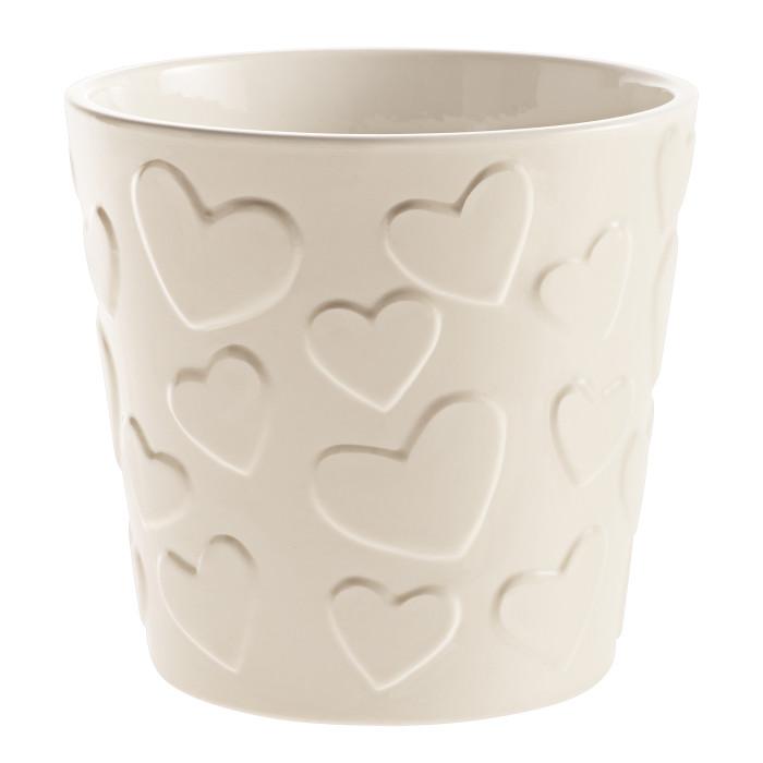 Керамический горшок матовый Valentine Beige ø14