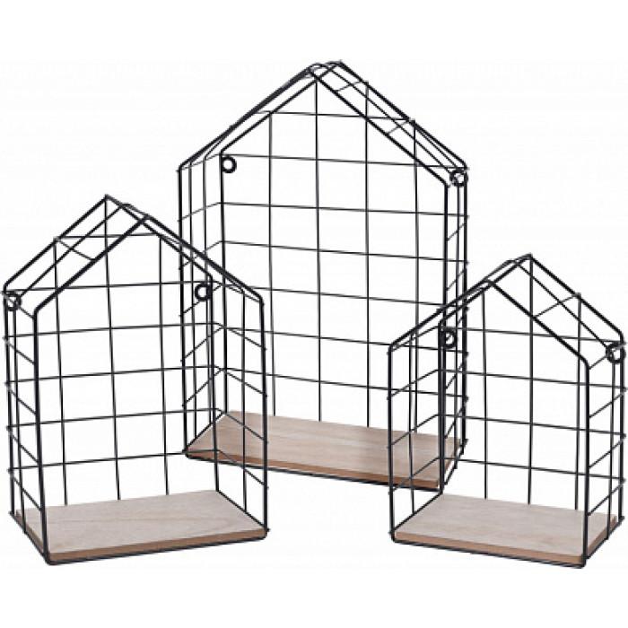 Полка подвесная в форме домика из металла