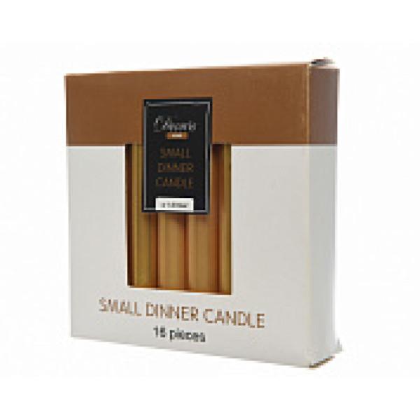 Набор свечей из воска д.1,3x10,5 см, (уп=16 шт), золотой металлик