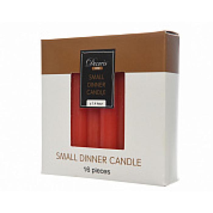 Набор свечей из воска д.1,3x10,5 см, (уп=16 шт), Рожд.красный
